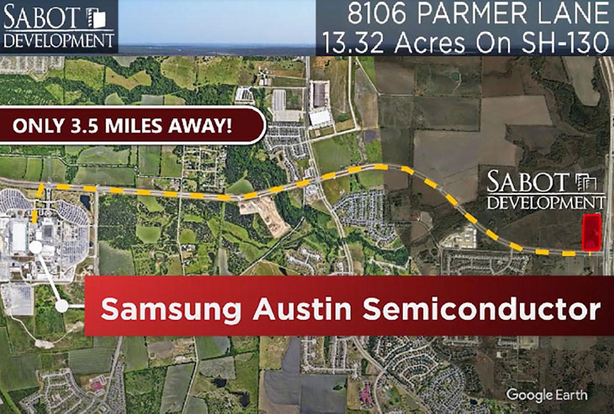 Sabot acquires 13 Acres near Samsung