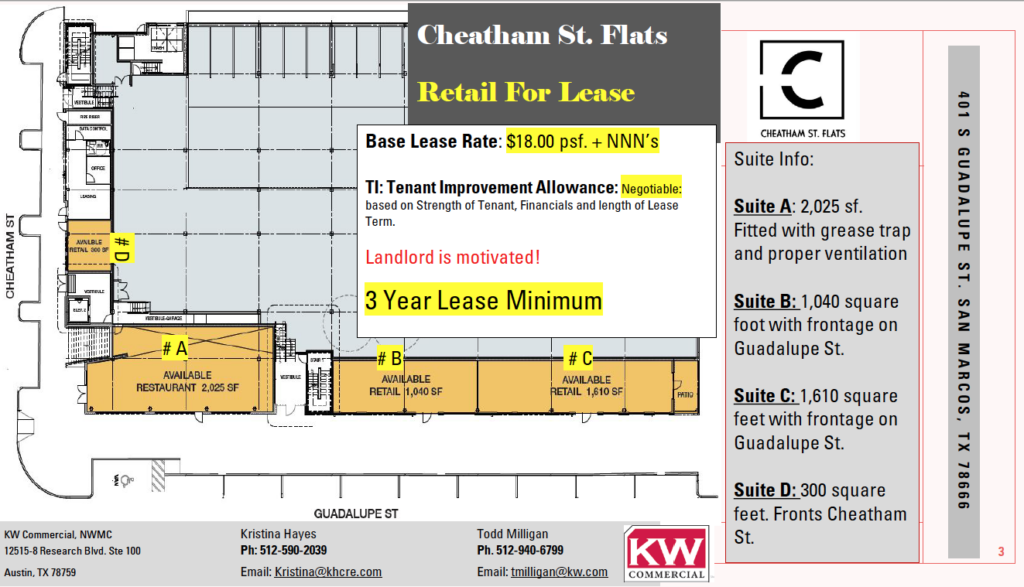 Cheatham St Lease Space Map